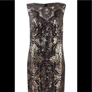 Tadashi shoji sequin dress sz 2